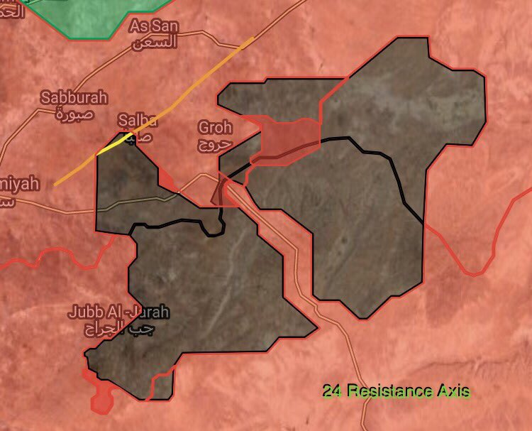 Maps: Syrian Government Forces Advances Against ISIS In Eastern Hama