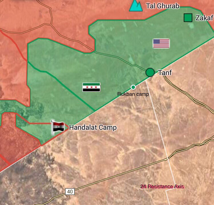 Map: Military Situation In Southeastern Syria Following Liberation Of Al-Hadalat Refugee Camp