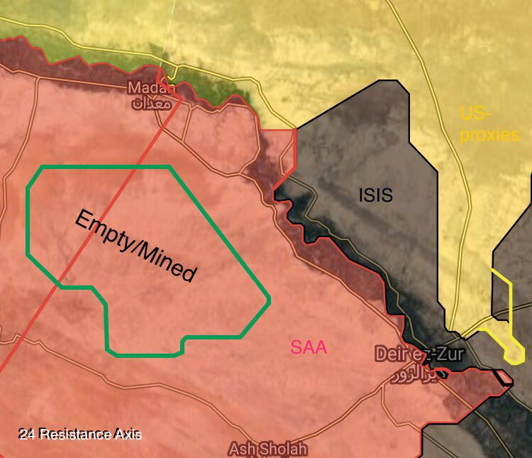 Maps: Military Situation In Deir Ezzor Countryside Following Syrian Army Advance On Maadan
