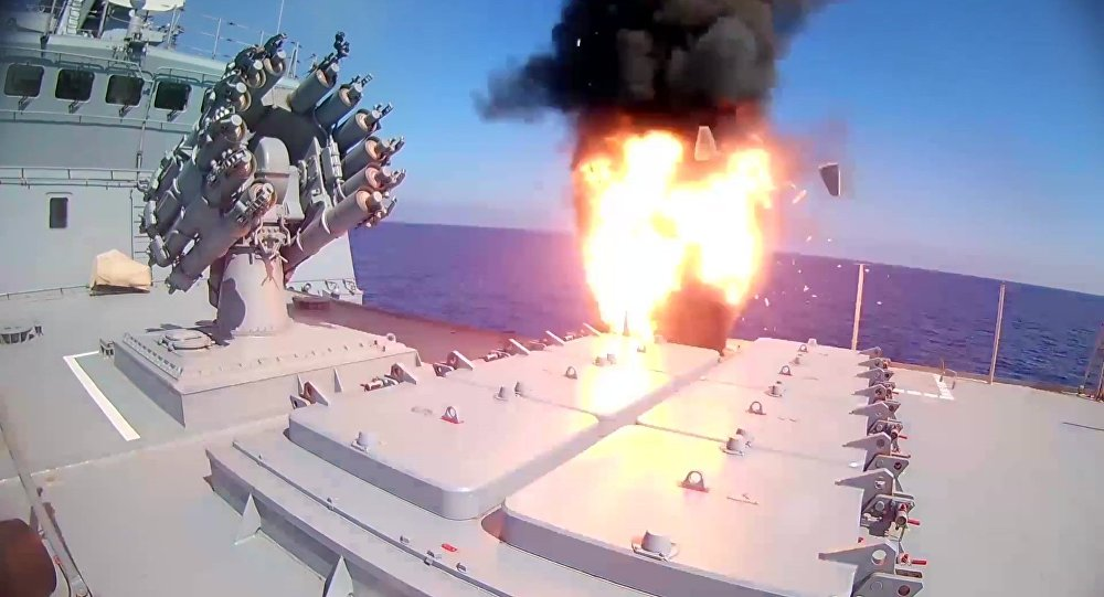 Russian Frigate Strikes ISIS Targets In Dier Ezzor With Kalibr Cruise Missiles