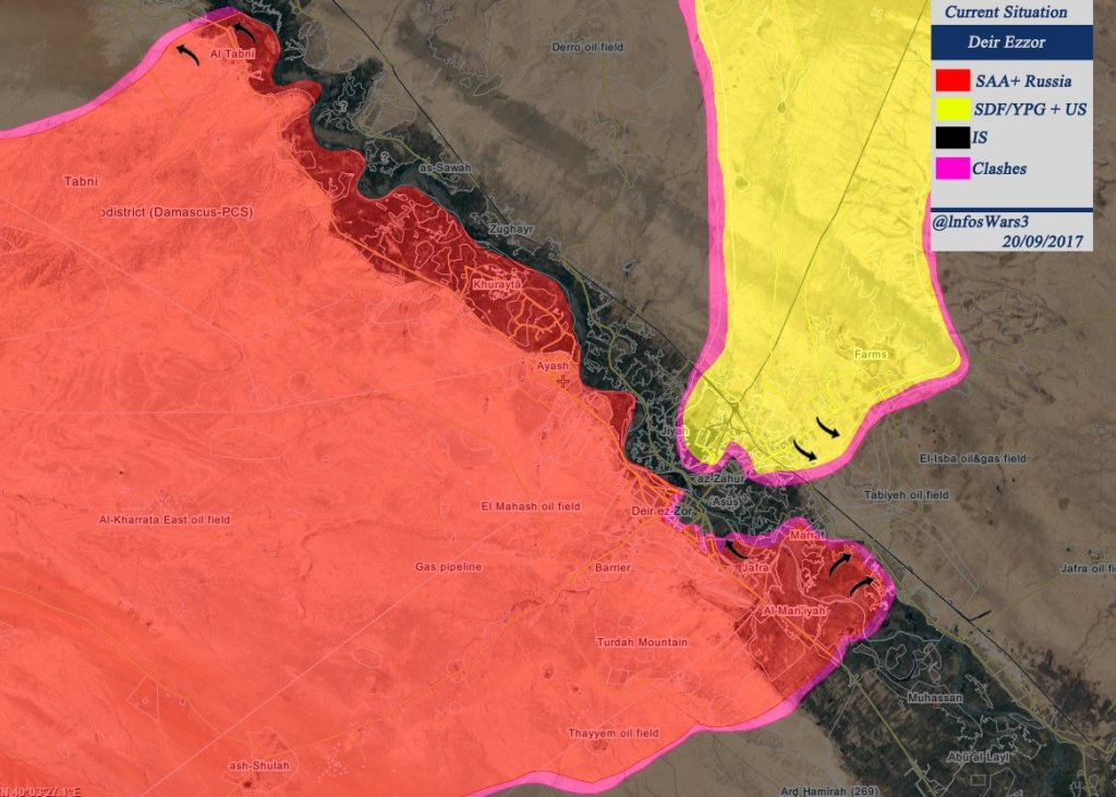ISIS Defense Collapses Northwest Of Deir Ezzor, Syrian Army Liberates About 100km2 (Maps)