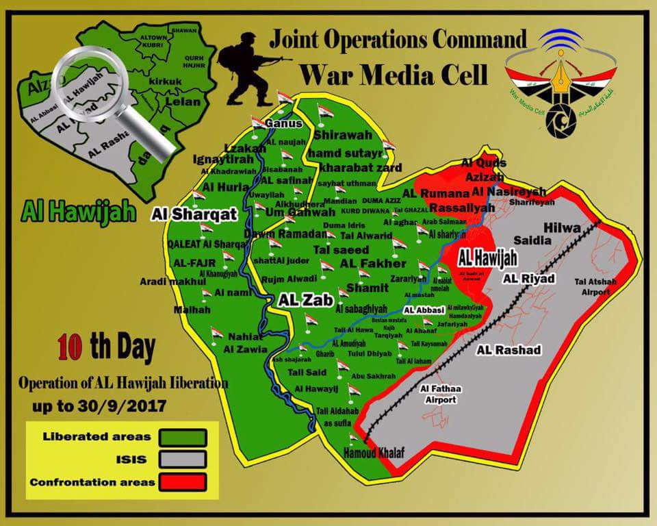 Iraqi Army, PMU Capture Strategic Mishak Town And 34 Villages In Hawija Area (Maps, Photos)