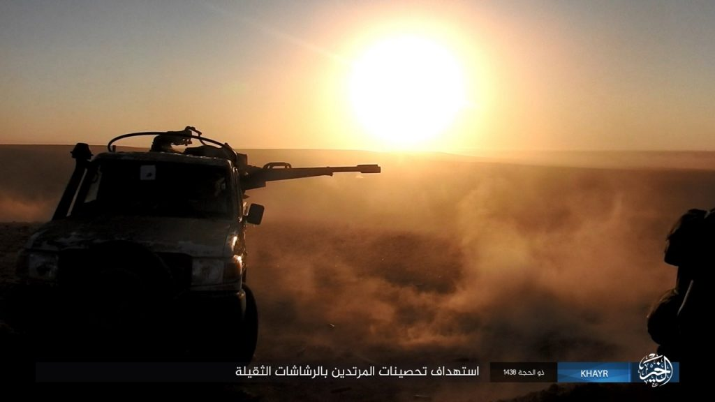 ISIS Released Photo Report Showing Clashes Near Humaymah Near Border With Iraq