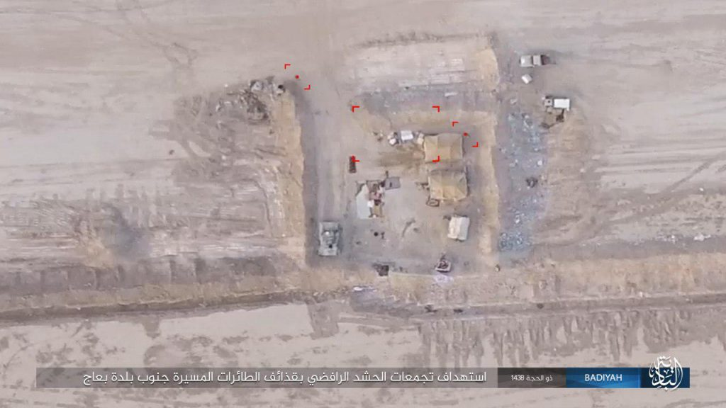 Photos: ISIS Uses Armed Drones Against Iraqi Popular Mobilization Units West Of Mosul