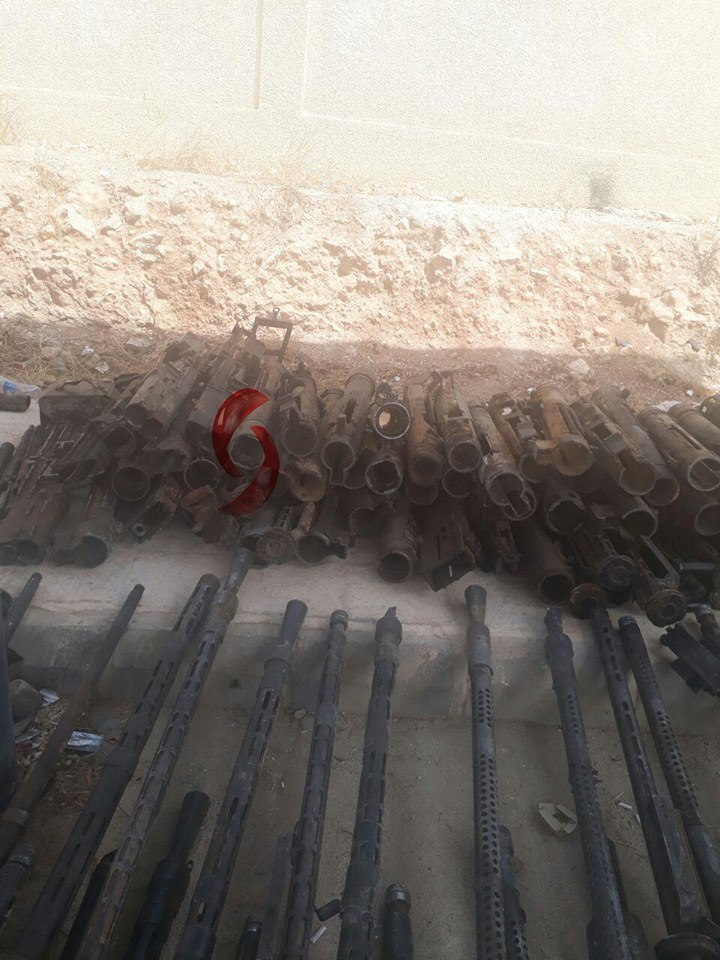 Army Seized Drone Factory, Large Number Of Weapons And Ammunition From ISIS In Uqayribat Area (Photos)