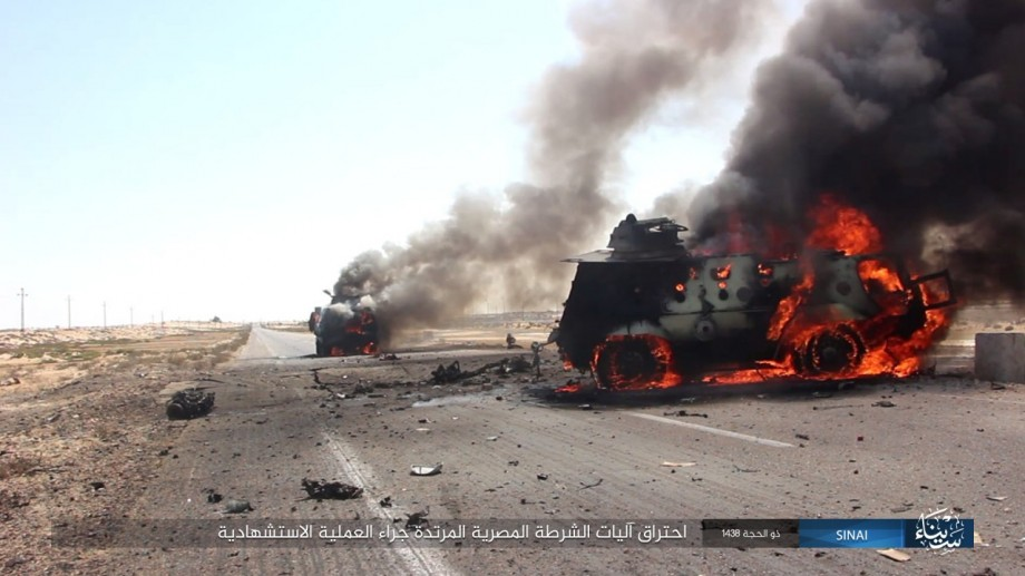 In Photos: ISIS Ambushes Egyptian Military Column In North Sinai