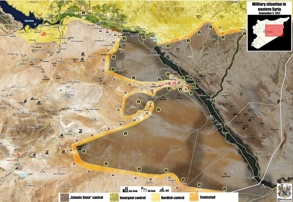 Overview Of Battle For Deir Ezzor City On September 5, 2017 (Maps, Videos)
