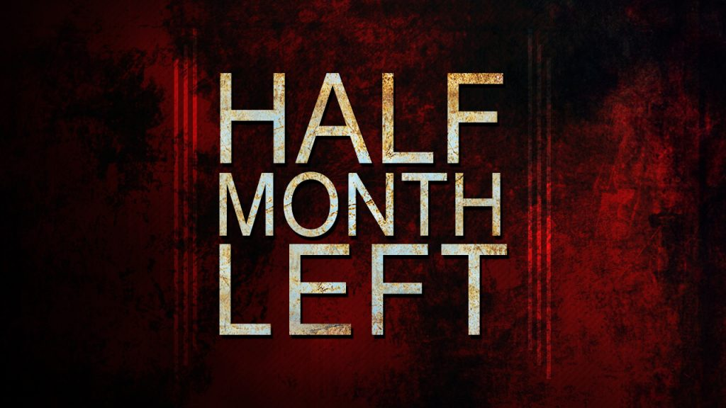 Half Month Left Until End Of September