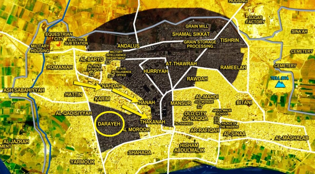 US-backed SDF Recaptures Darayeh Area From ISIS In Raqqah