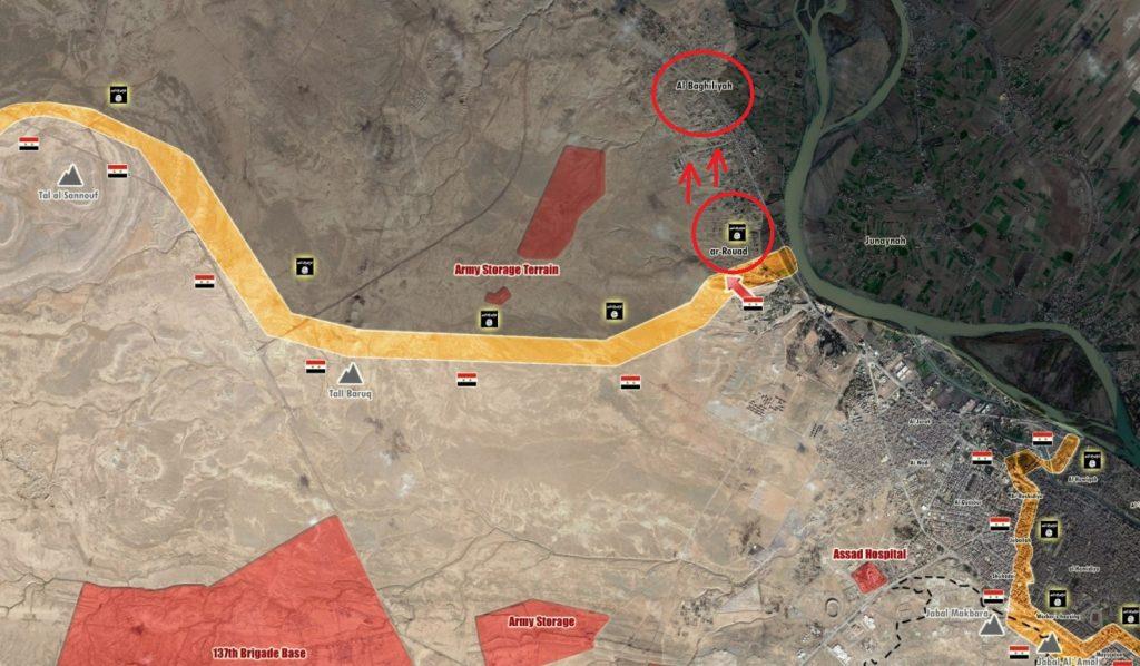 Syrian Army Captured Baghiliyah Northwest Of Deir Ezzor City (Map)