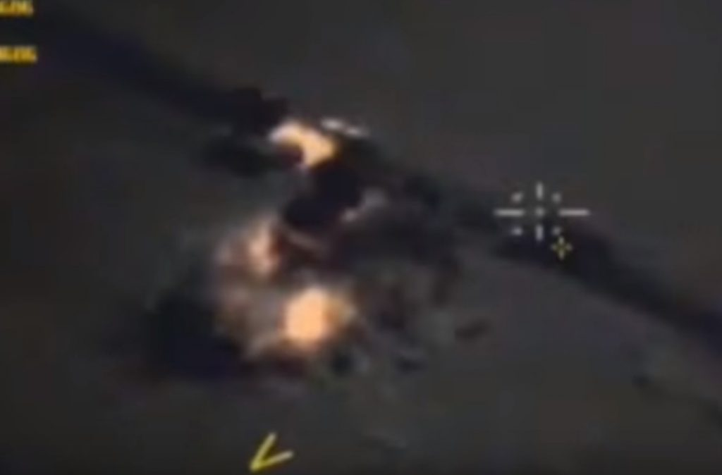 Russian Warplanes Destroyed 9 Pieces Of Military Equipment, 20 Trucks Belonging To ISIS