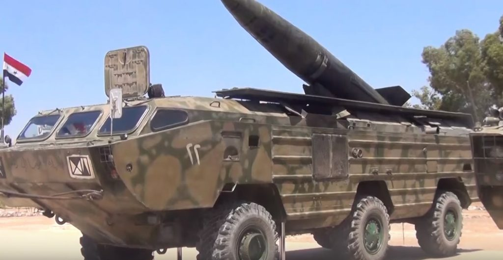 Syrian Military Showcases OTR-21 Tochka Tactical Ballistic Missiles (Video)