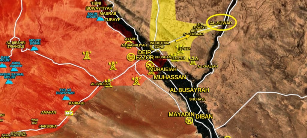 US-backed Forces Seize Al-Suwar Town In Syria's Deir Ezzor Province (Map)