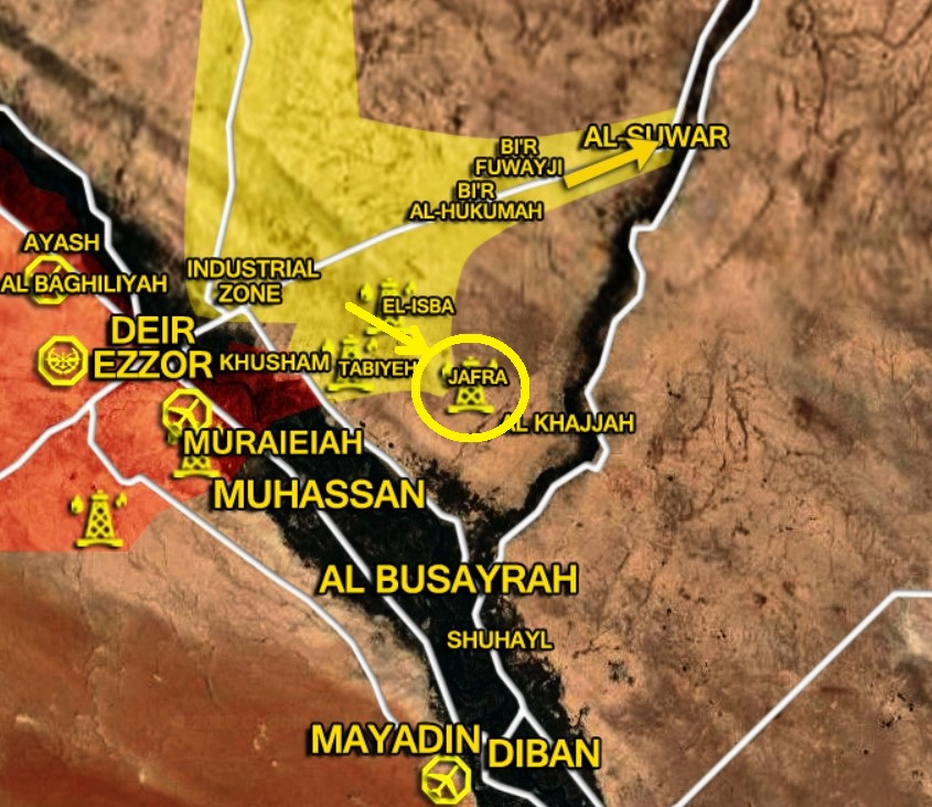 US-backed Forces Seize Jafrah Oil Field On Eastern Bank Of Euphrates, While ISIS Fiercely Attacks Syrian Army