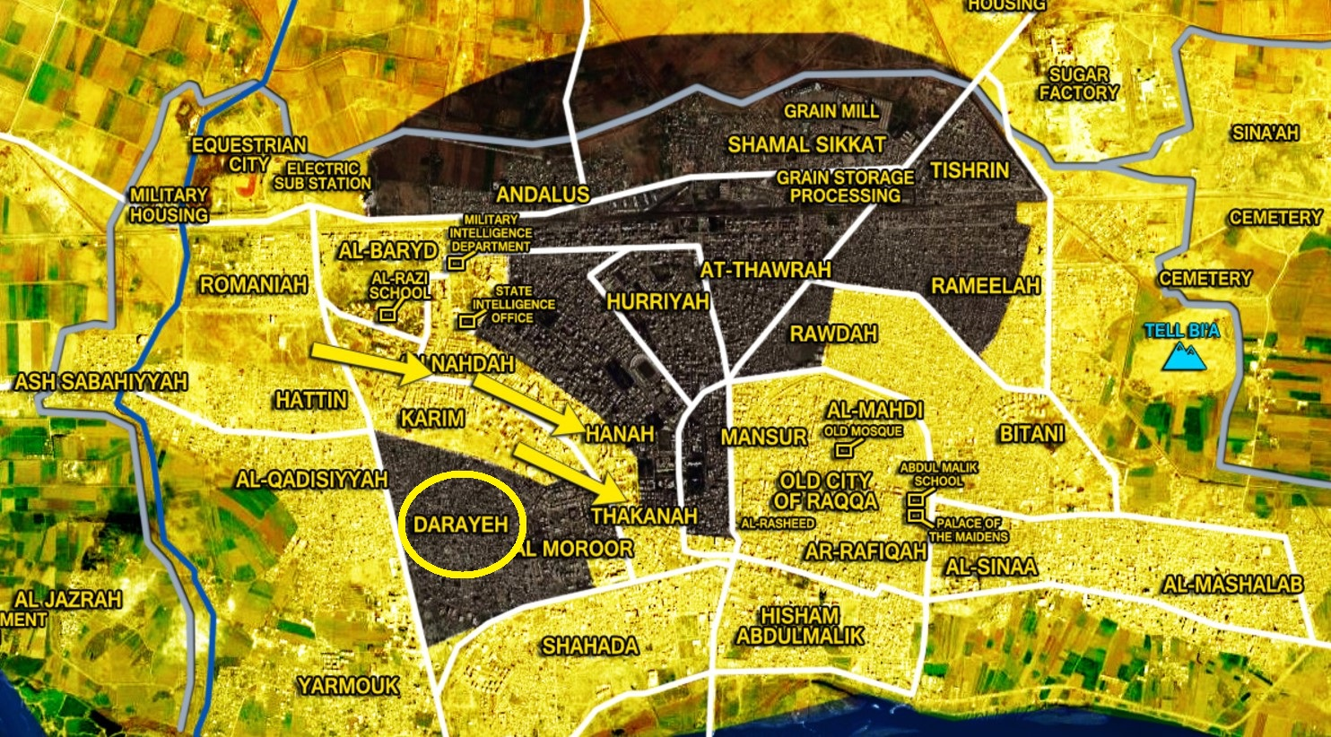 Us Backed Sdf Recaptures Darayeh Area From Isis In Raqqah