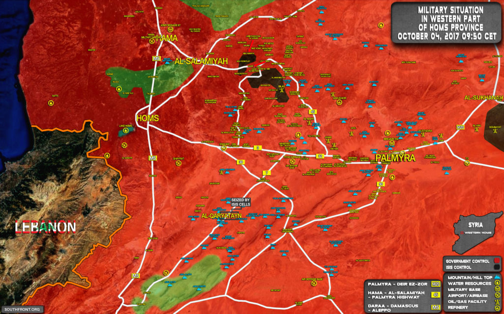 Syrian Army Clearing ISIS-held Pocket East of Salamiyah (Map)