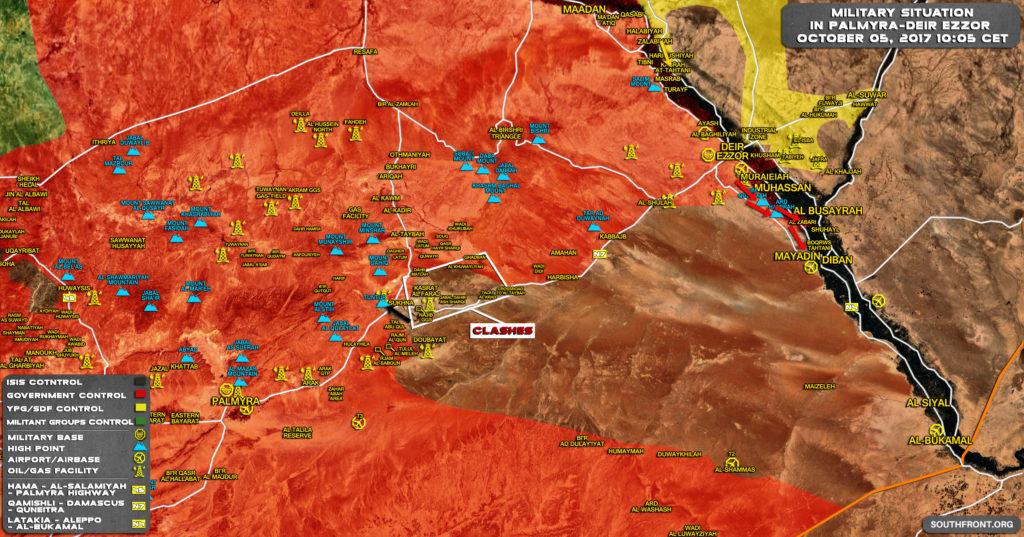 ISISは再び中央シリアの戦略的スクナ・タウンを囲むためにプッシュする(地図)