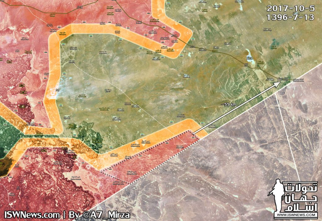 Map Update: Military Situation In Southeastern Syria Following Recent Advances Of Government Forces
