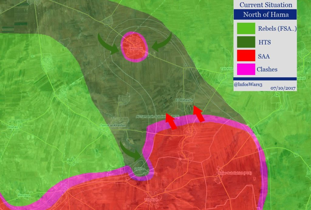 Military Situation In Northern Hama Following Al-Qaeda Advance Against Syrian Army (Map)