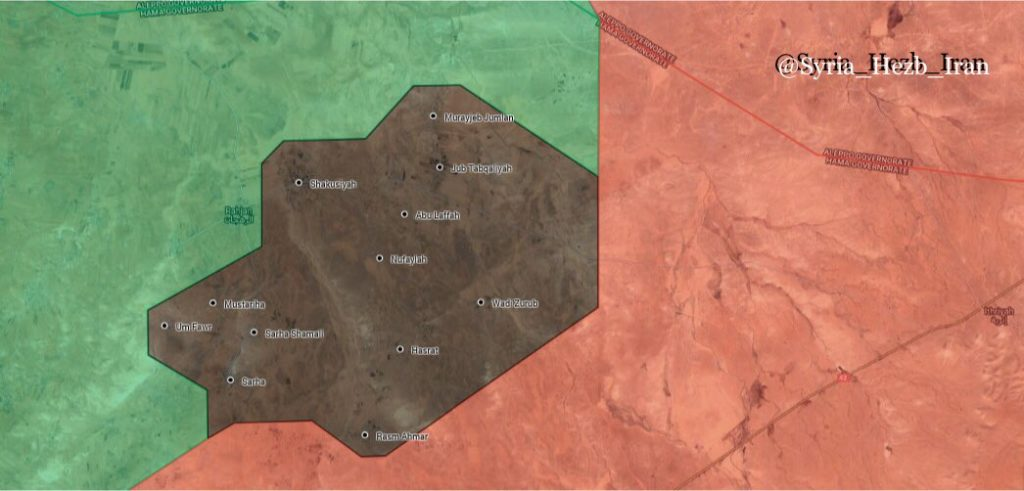 Military SItuation In Northern Hama Following ISIS Attack Against Hayat Tahrir al-Sham (Maps)