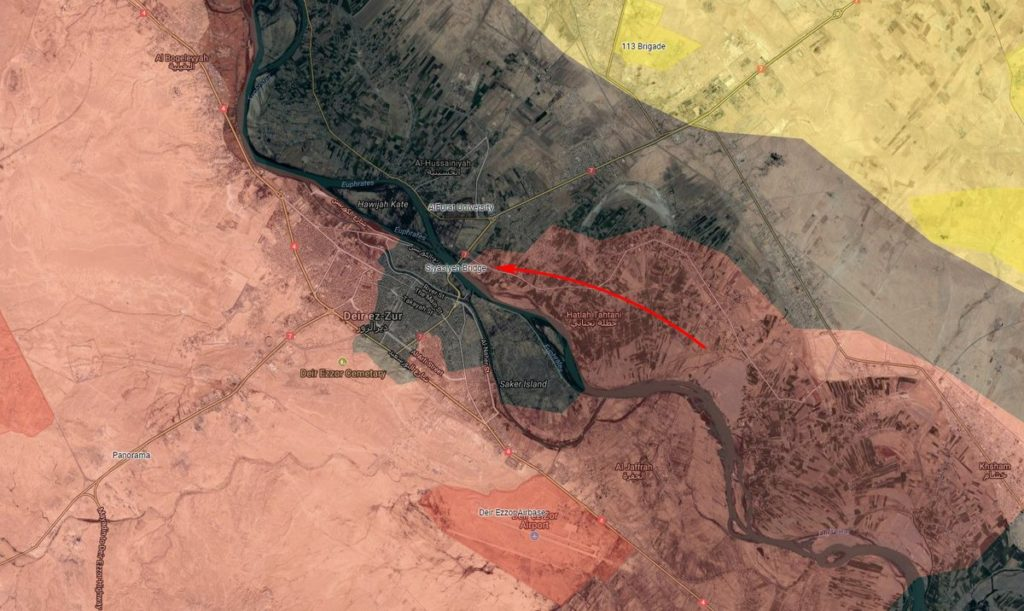 Syrian Army Makes Rapid Advance Towards Siyasiyah Bridge, Further Tightens Sieges On ISIS Units In Northern Deir Ezzor