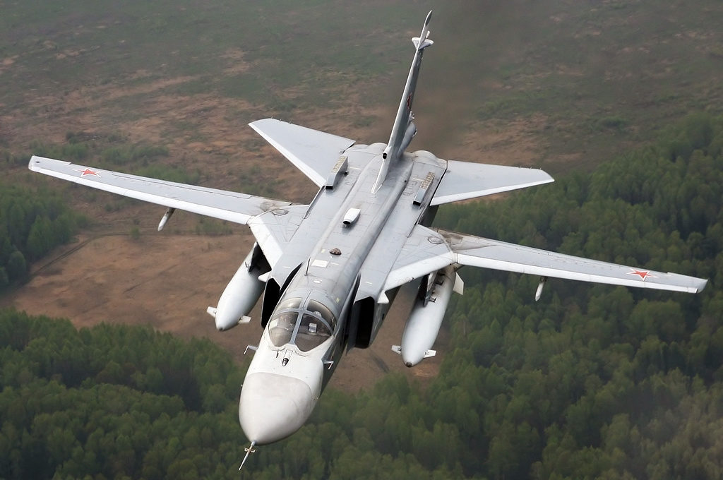 Russian Su-24 Warplane Crashed in Syria. Crew Members Dead