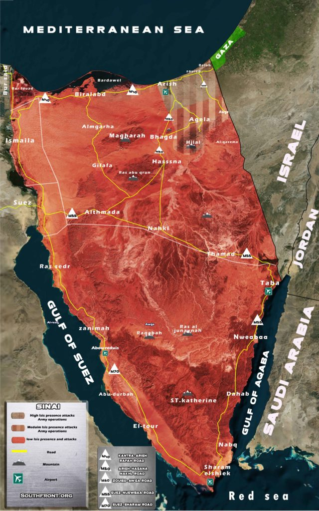 Terrorist Activity And Security Situation In Egypt's Sinai Peninsula