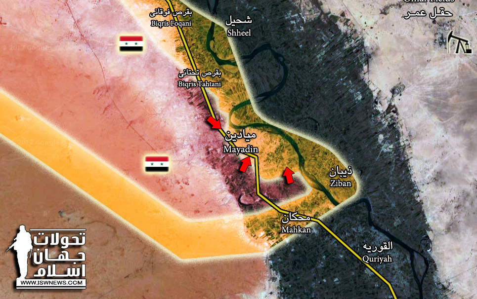 Syrian Army Liberated Half Of Al-Mayadin City (Map)
