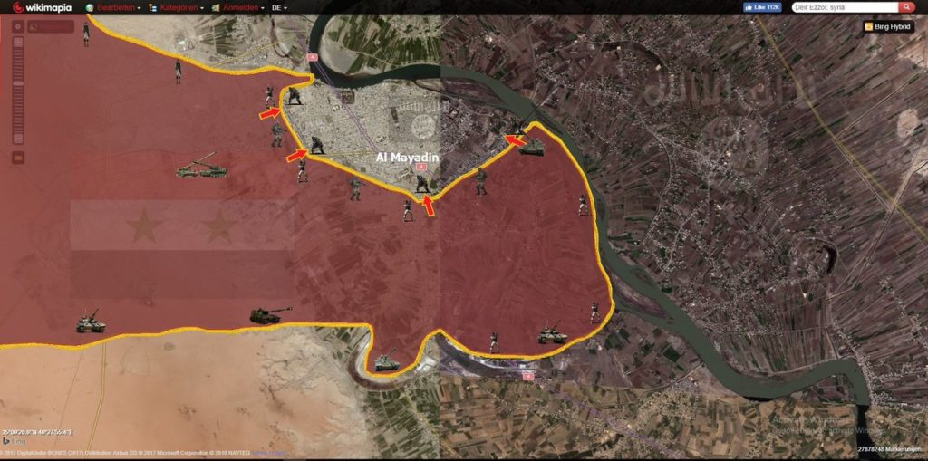 Syrian Army Outflanks ISIS Near Mayadin, Reaches Euphrates Bridge (Map)