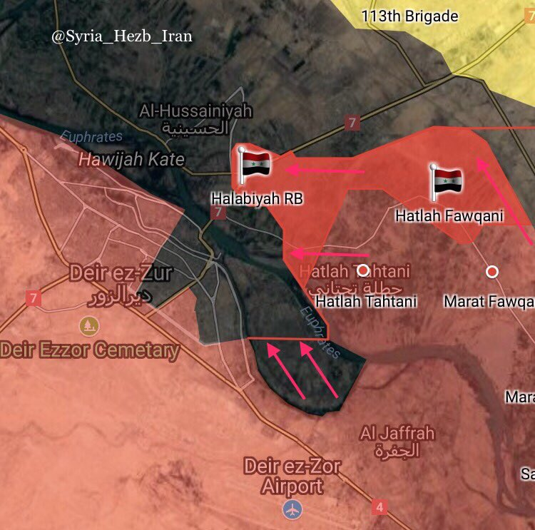 Pro-Government Forces Clashing With ISIS Terrorists North Of Deir Ezzor City (Map)