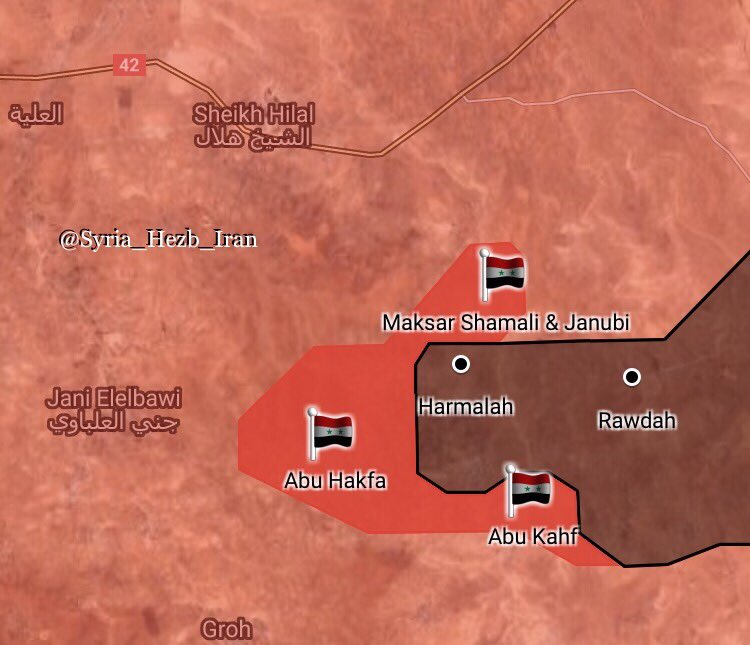 Government Forces Liberated 4 Villages From ISIS In Eastern Hama (Map)