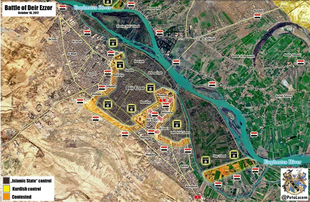 ISIS Becomes Closer To Total Defeat In Deir Ezzor City As Syrian Army Divides ISIS-held Area Into Two Separate Parts