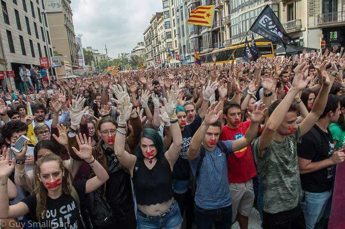 Catalonia To Start National Strike Over Police Violence During Sunday Referendum