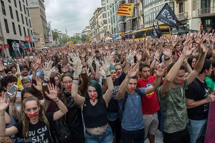 Catalonia To Start National Strike Over Police Violence During Sunday Referendum