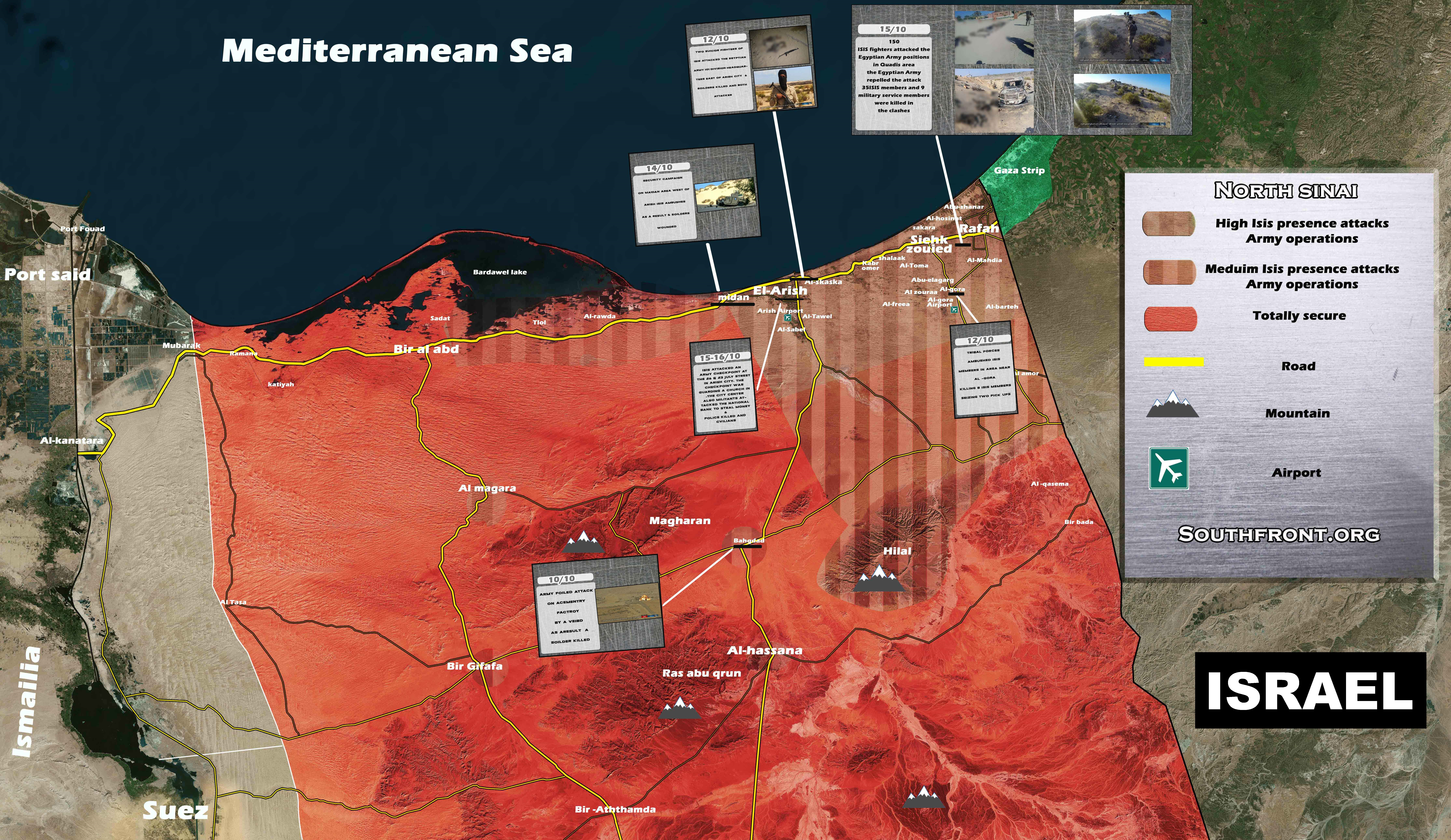 Map Update: ISIS Attacks In Egypt's North Sinai On October