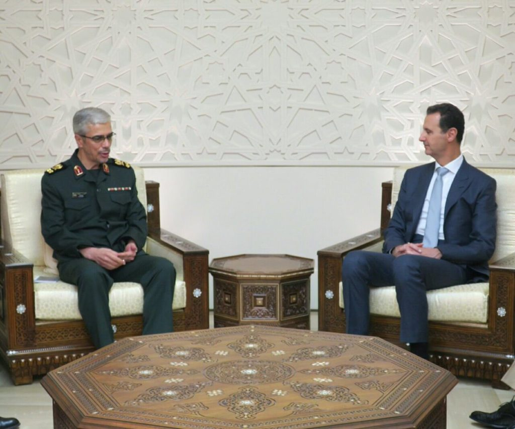 Iranian Chief Of Staff Met With Syrian President