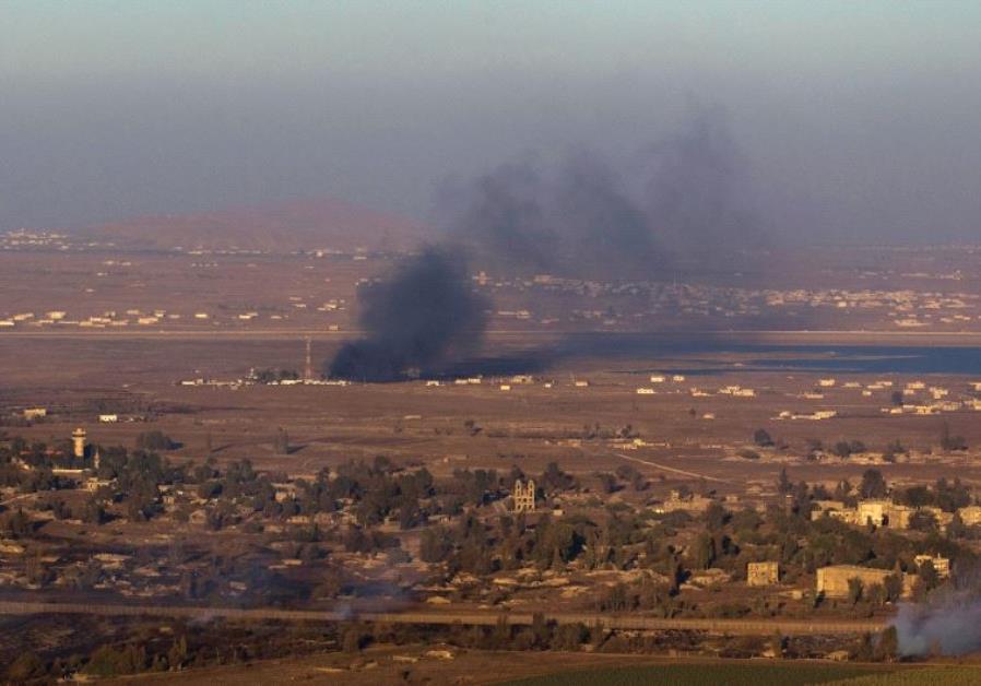 Le forze israeliane attaccano gli attacchi sull'esercito siriano nei pressi di Gholan, distruggono 3 cannoni di artiglieria
