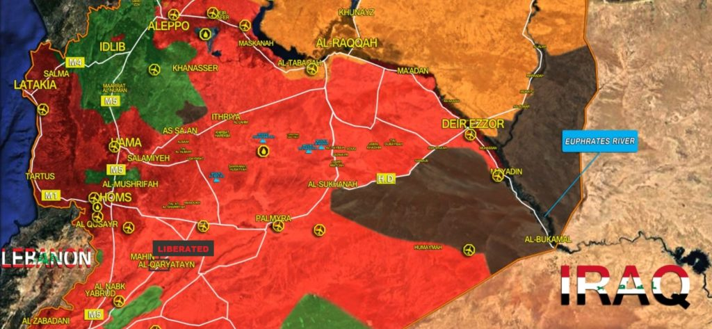 Syrian Army Liberated Al-Qaryatayn City From ISIS (Map)