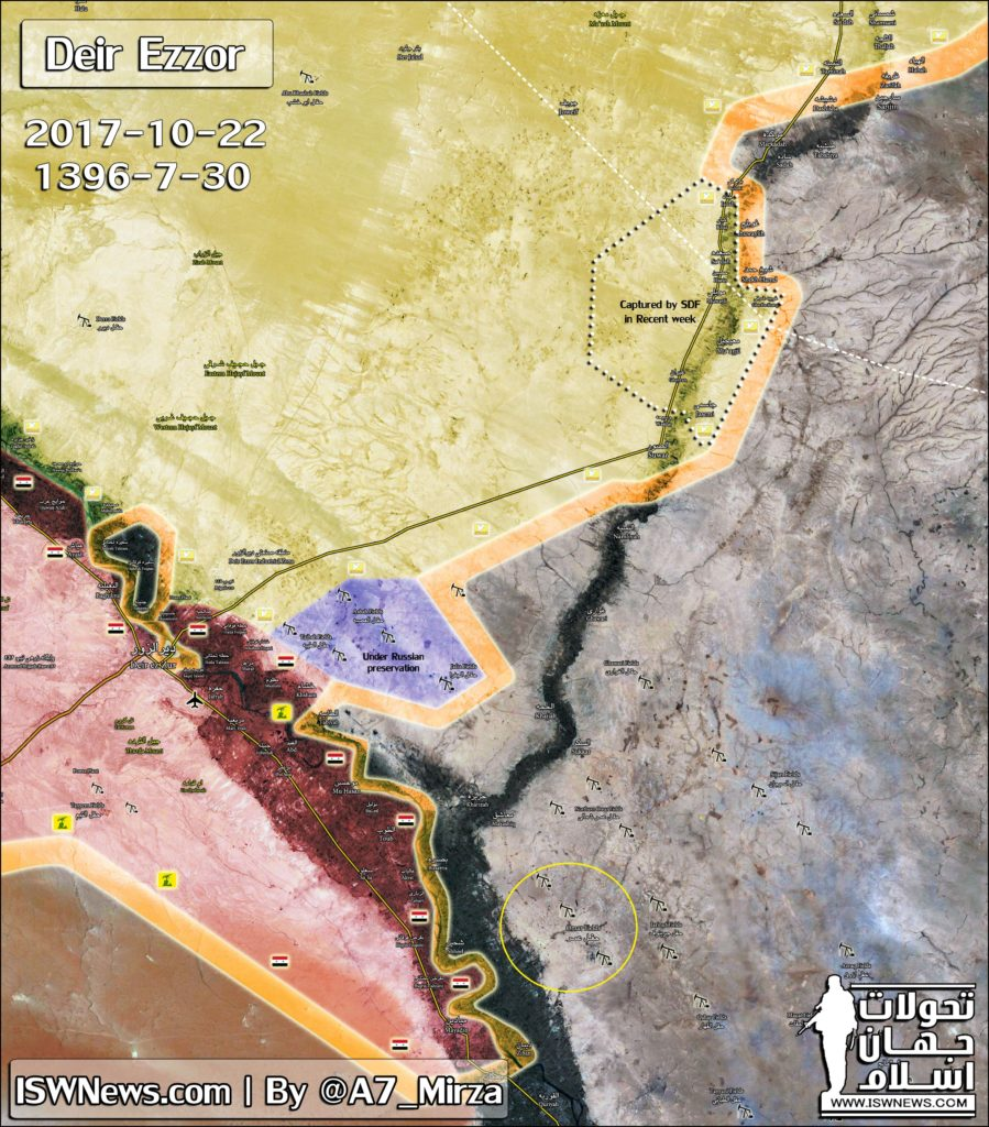 Turksih State-Run Media Fails To Find Syria's Omar Oil Fields, Releases Map Showing Them Northwest Of Deir Ezzor