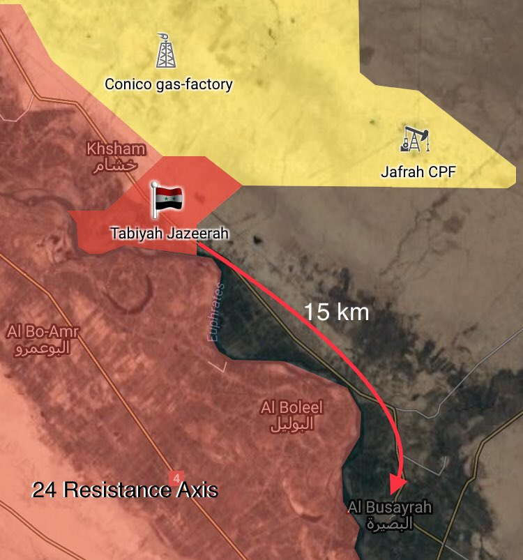 Syrian Government Forces Advance On Eastern Bank Of Euphrates, Capture Jadid Uqaydat (Map)