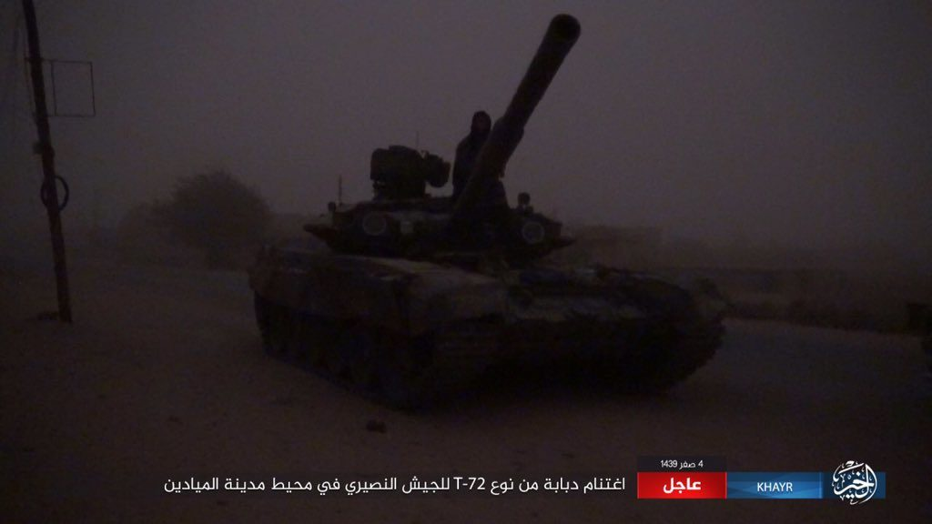ISIS Captured Russian-Made T-90 Battle Tank From Government Forces Near Al-Mayadin