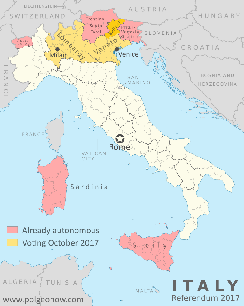 Two Italian Regions Voted For More Autonomy In Own Referendums