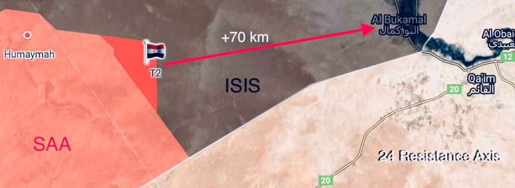 Syrian And Iraqi Forces Push Towards ISIS Border Strongholds At Deir Ezzor-Baghdad Highway, Make Important Gains (Map)