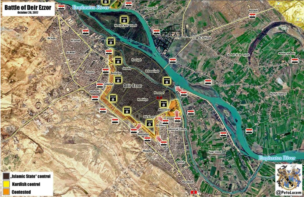Map Update: Military Situation In Syrian City Of Deir Ezzor On October 26, 2017