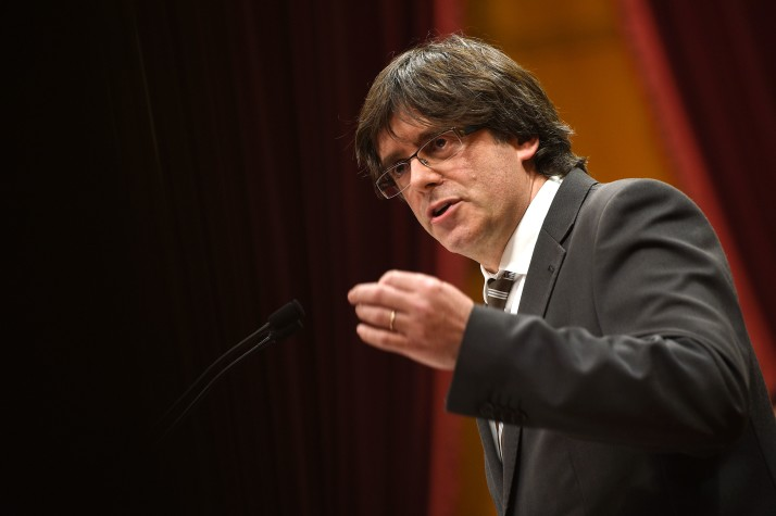 Catalonia's Leader Carles Puigdemont Rules Out Snap Election