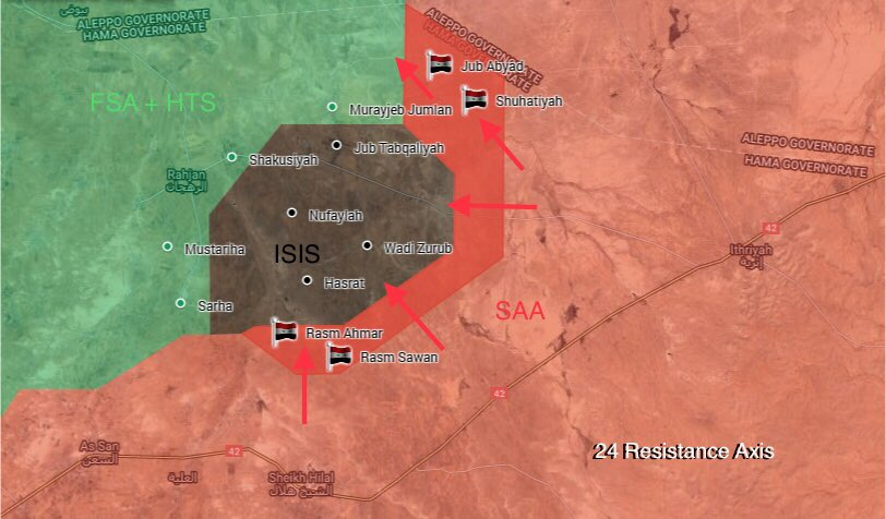 Map Update: Syrian Army Captured 4 Villages From ISIS, Al-Qaeda In Northern Hama