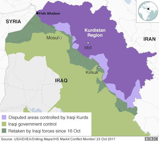 Iraqi Forces Work To Build Buffer Zone Between Iraqi Kurdistan And