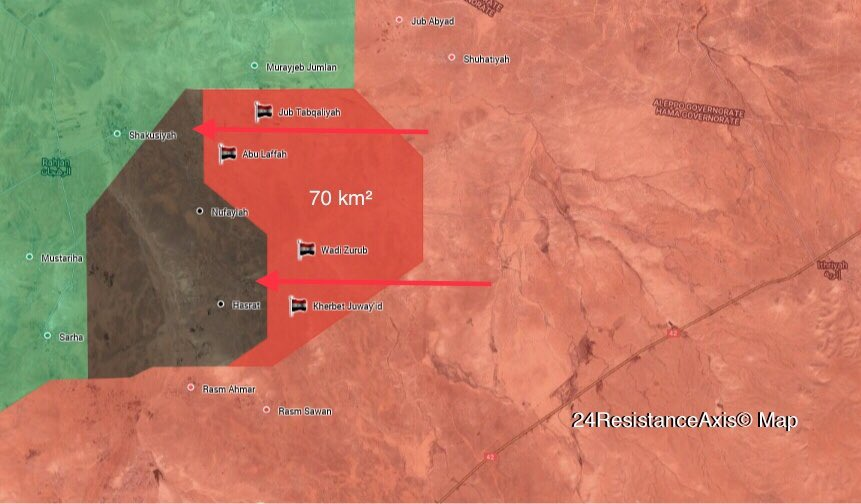 Map Update: Syrian Troops Liberate 4 More Villages In Northeastern Hama