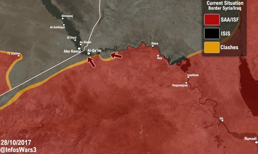 Military Situation In Western Iraq On October 28, 2017 (Map Update)