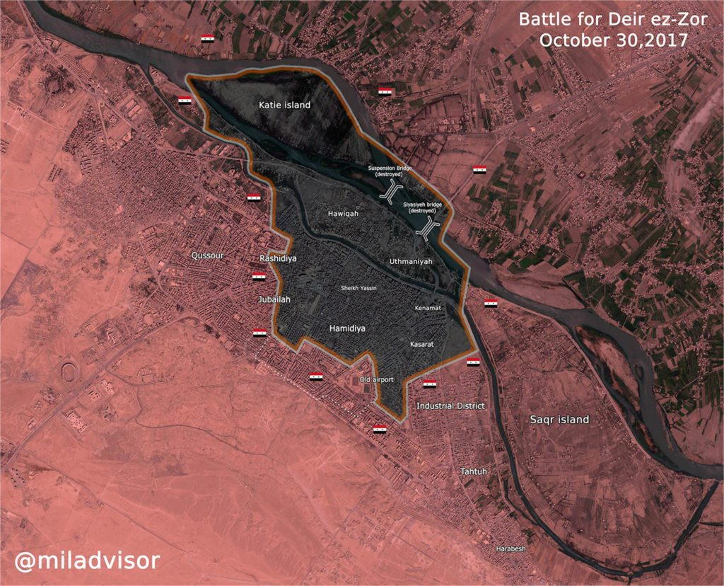 Map Update: Military Situation In Syrian City Of Deir Ezzor On October 30, 2017